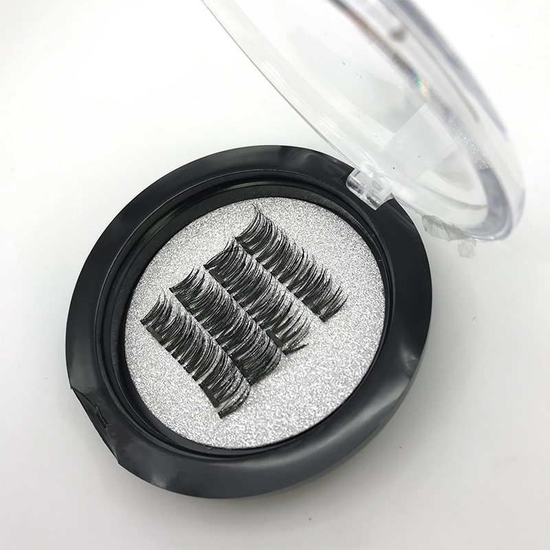 1 Pairs Magnetic Eyelashes With 2 Magnets Soft Lashes Handmade 3D Magnetic Lashes Natural False Eyelashes Double Magnet