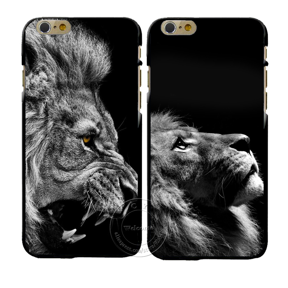 New Fashion <font><b>Lion</b></font> Design Cover <font><b>Case</b></font> For Coque Apple <font><b>iPhone</b></font> X XS Max XR 4 4S 5 5S SE 5C 6 <font><b>6S</b></font> 7 8 Plus Hard Plastic Phone Cover image