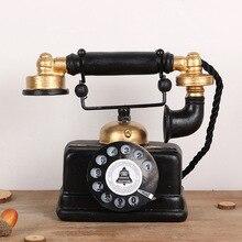 Винтажная модель телефона из смолы, украшения для дома, аксессуары, украшения для телефона, креативный подарок, магазин, декор для бара, реме...