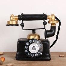 Modelo de resina casa acessórios de decoração do telefone do vintage telefone ornamentos presente criativo bar loja de decoração artesanato figurinhas TTBD21