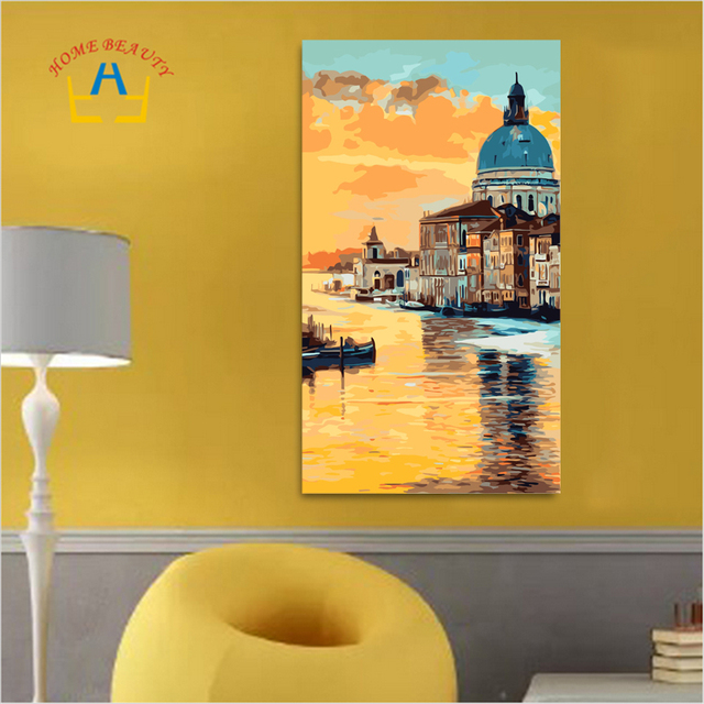 Oil Painting By Numbers On Canvas Cheap Large Modern Wall Art Water ...