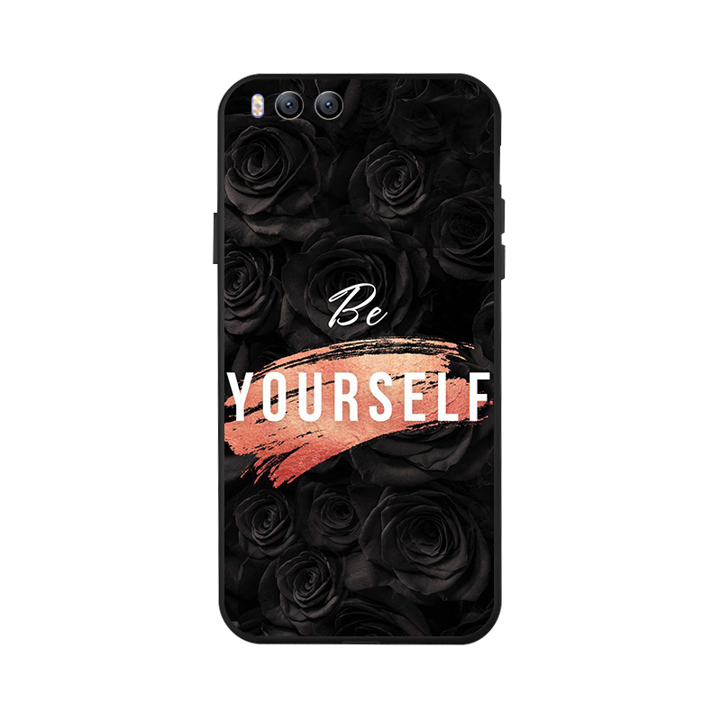 Ojeleye Fashion Black Silicon Case For Xiaomi 6 Plus Cases Anti knock Phone Cover For Xiaomi MI6 Plus Covers in Fitted Cases from Cellphones Telecommunications