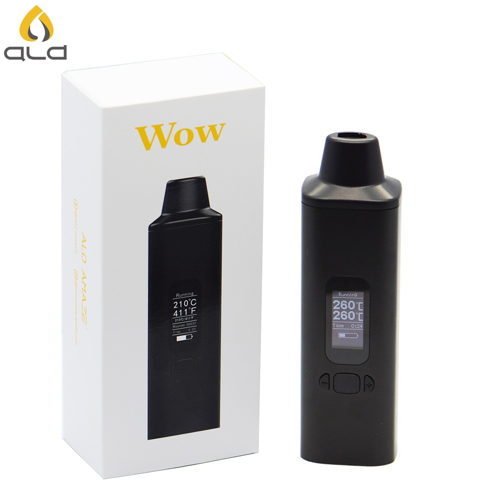 ALD AMAZE W0W V2 Dry Herb vape Kit Electronic Cigarettes 1800mAh with OLED Display and Vibrating alert herbal vaporizer