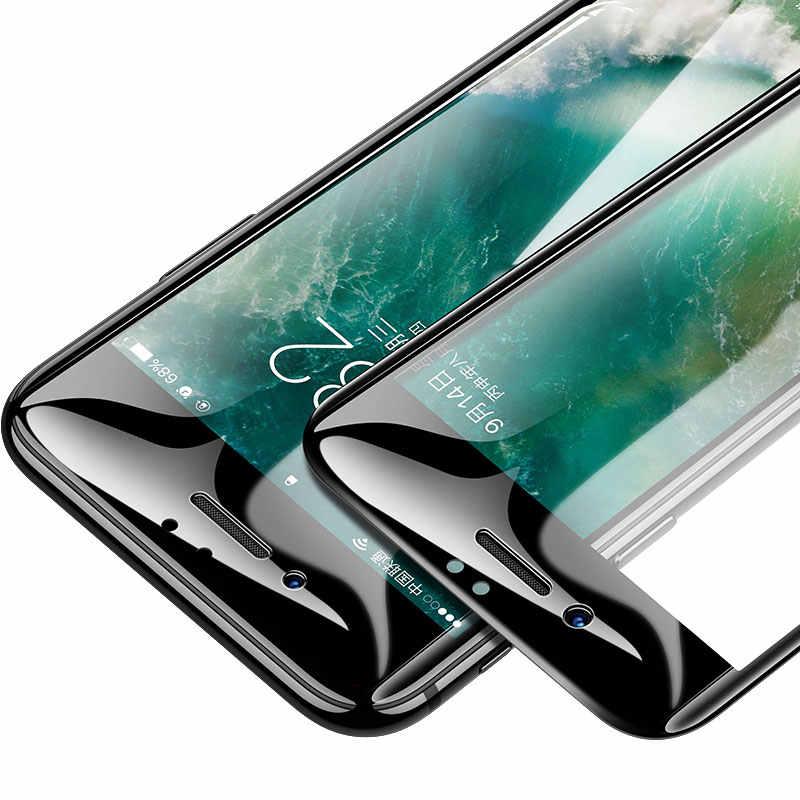 30D полное защитное стекло с закругленными краями для iPhone 7 8 6 6S Plus, закаленное защитное стекло для X XR XS Max