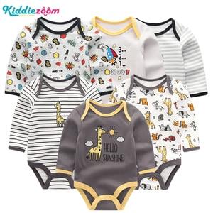 Image 1 - 新しい男の赤ちゃんロンパース服女の子遊び着幼児ジャンプスーツ長袖ベビー服の夏の少年 roupas デパジャマベベ服