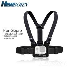 Hot Gopro Accessoires Verstelbare Borst Body Harness Belt Strap Mount Voor Gopro Hero 6 5 4 3 Sjcam Xiaomi Yi dji Accessoires