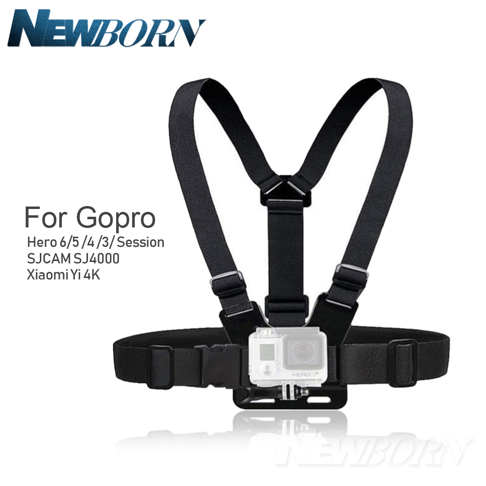 цена на Hot Gopro Accessories Adjustable Chest Body Harness Belt Strap Mount For Gopro Hero 6 5 4 3 SJCAM XIAOMI YI accessories
