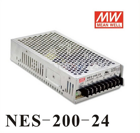 High Reliability Mean Well Switching Power Supply 200W 24V 8.8A Single Output NES-200-24 For stepper Motor original mean well 200w single output switching power supply nes 200