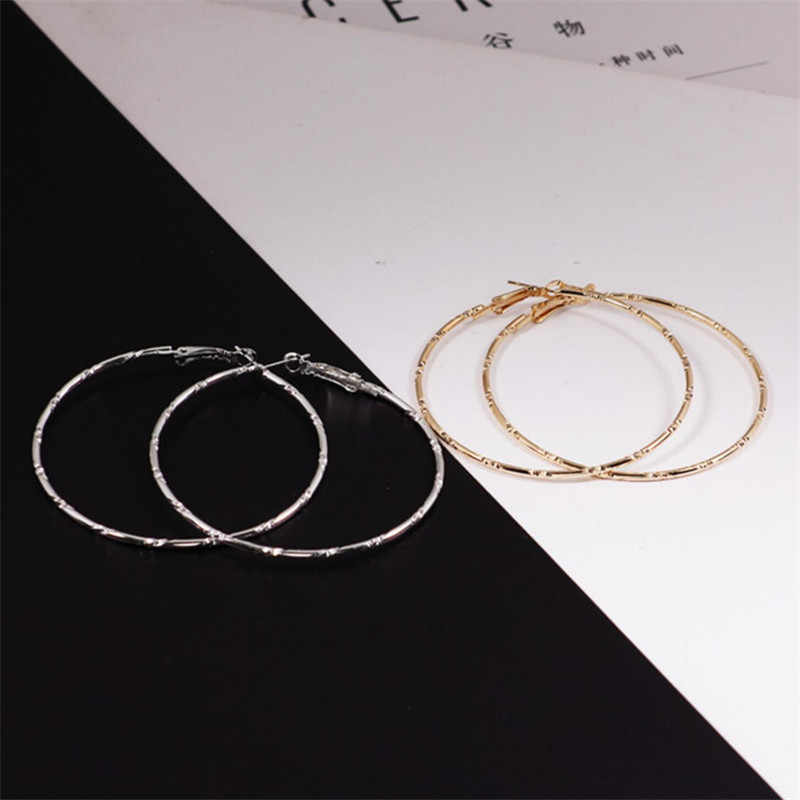 2019 moda waterdrop okrągłe kolczyki wysokiej jakości kolczyki proste kolczyki duże kolczyki złoty kolor Loop kolczyki dla kobiet