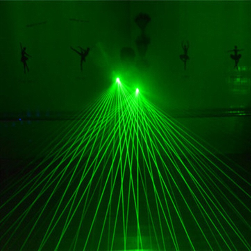 zeleni laseri čovjek rukavice ples stage show svjetlo stranka DJ - Za blagdane i zabave - Foto 6