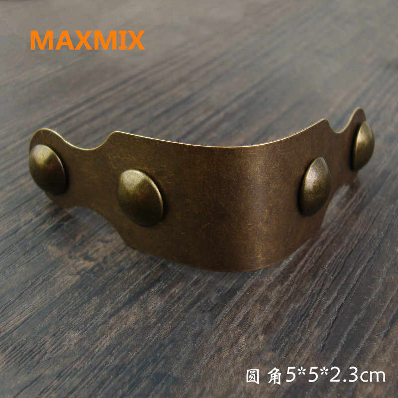 50mm Wooden box copper corner Fillet code Copper sheet Connector Antique furniture edging Corner sheet fittings Leather suitcase