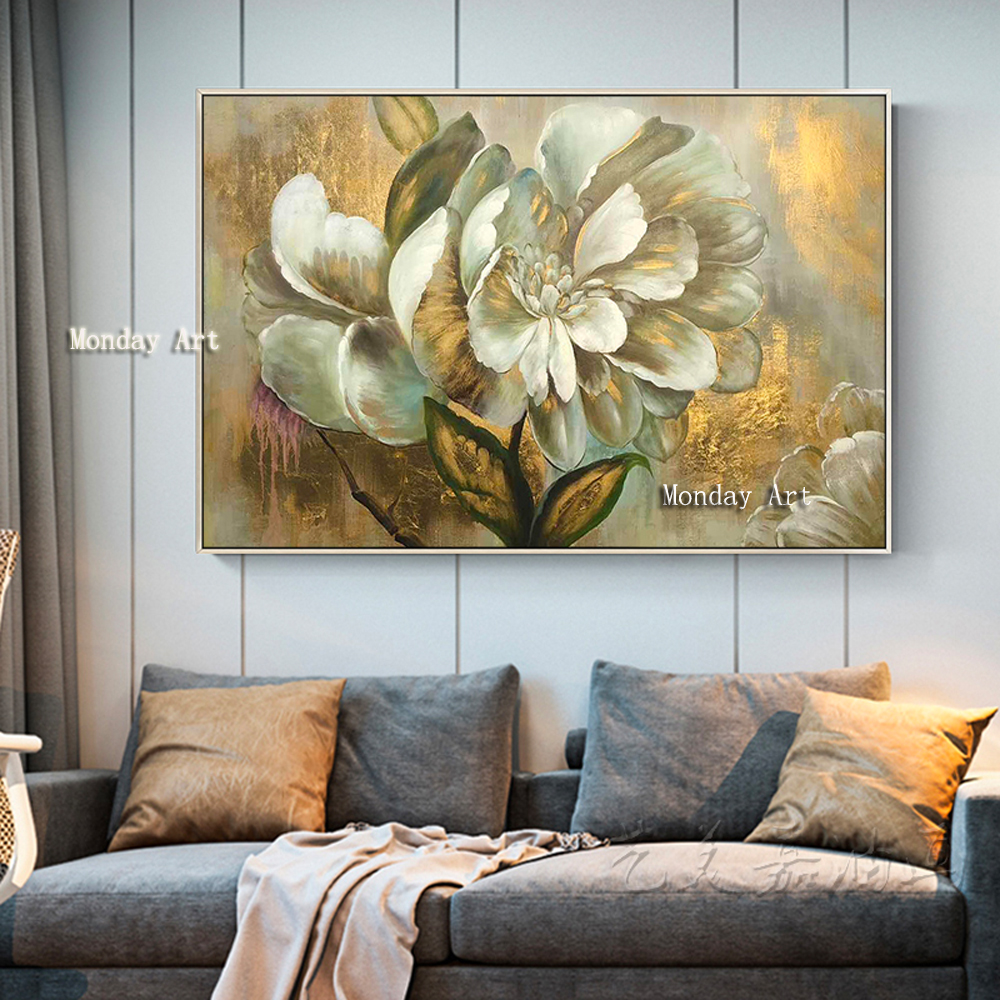 p The-100-Hand-painted-abstract-golden-flower-Oil-Painting-On-Canvas-Wall-Art-Wall-Pictures-Painting (7)