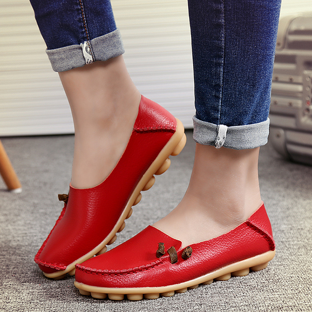 Slipony 16 colors plus size 34-44 New Fashion 2017 casual shoes women genuine leather high quality basket femme flats ALY331