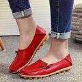 Slipony 16 cores plus size 34-44 Moda de Nova 2017 casual mulheres sapatos de couro genuíno de alta qualidade cesta femme flats ALY331