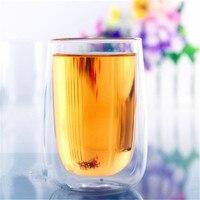 400 ml Resistenza Al Calore A Doppia Parete Tazza di Vetro Doppio Strato di Vetro Tazza di Tè Caffè Latte Succo di Bevanda Sana Mug Mini teiera