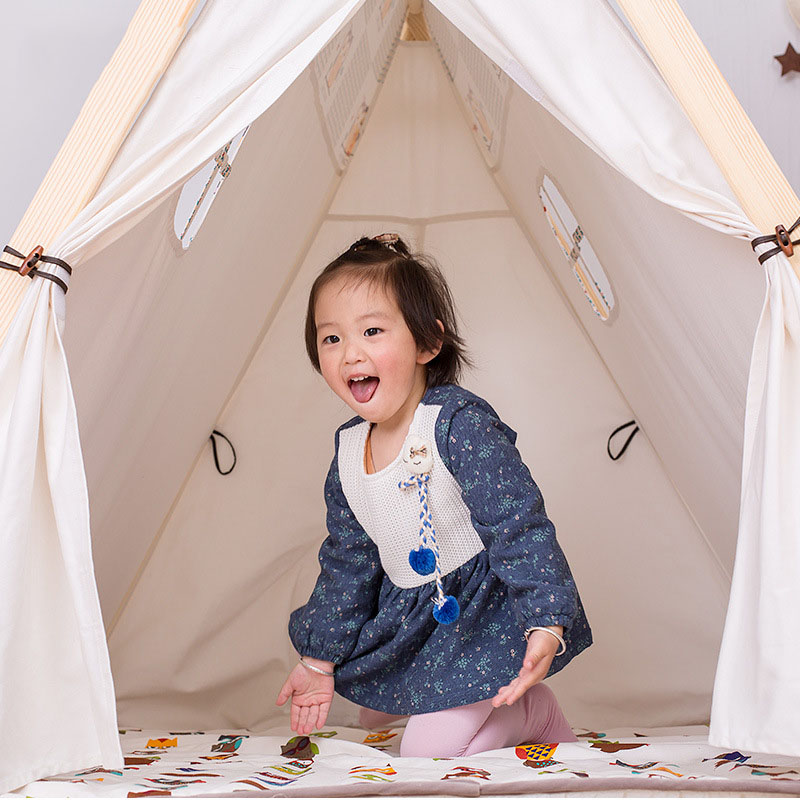 Kinderen Tent Oversized Indoor Game Room Baby Jongen en Meisje Speelgoed Huis Spel Tent Koningin Prinses Huis Vouwen Speeltent - 4