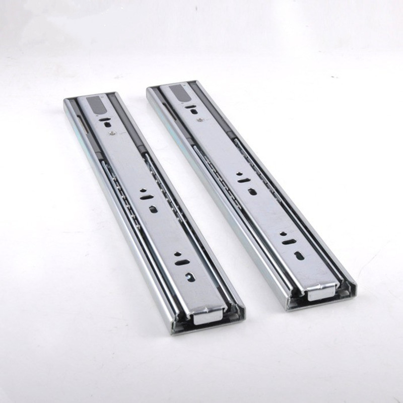 2PCS 10//12//14 Inch White Cabinet Drawer Slides Bottom Mount With Screws