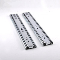 2 unit Steel Ball drawer slide keyboard drawer slide Furniture rails hardware Buffer 10/12/14/16/18/20/22 inch sliding guide