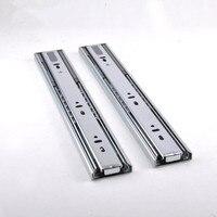 2 unit Steel Ball drawer slide keyboard drawer slide Furniture rails hardware Buffer 10/12/14/16/18/20/22 inch sliding guide