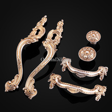 Designed 5Pair or 10PCS Furniture Handle European American Style Drawer Wardrobe Cupboard Cabinet Kitchen Pull Handles and Knobs
