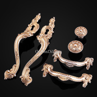 Designed 5Pair Or 10PCS Furniture Handle European American Style Drawer Wardrobe Cupboard Cabinet Kitchen Pull Handles