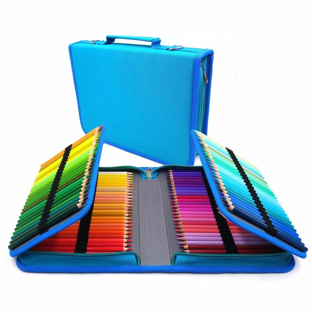Artiste de 150 Couleurs Crayon de Couleur Ensemble 150 Trous Titulaire Cas lapis de cor Professionnel à base D'huile Crayons de couleur pour le Dessin