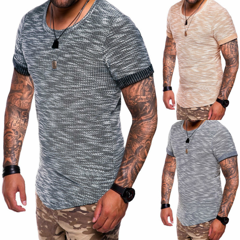 Fashion tshirts Brand New men's men T-shirt t tee shirt homme Casual loose slim fit Short Sleeve O-neck Tops Tees male tshirt
