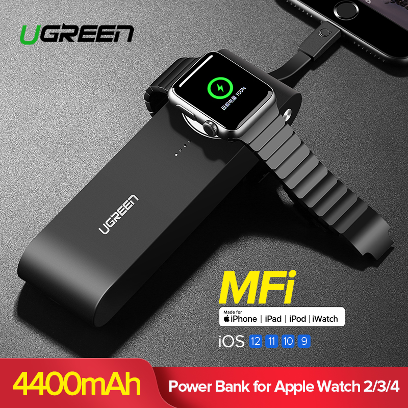 Ugreen chargeur sans fil batterie externe 4400 mAh pour Apple Watch 4/3/2 iPhone X 8 chargeur de batterie externe pour téléphones mobiles appauvrbank