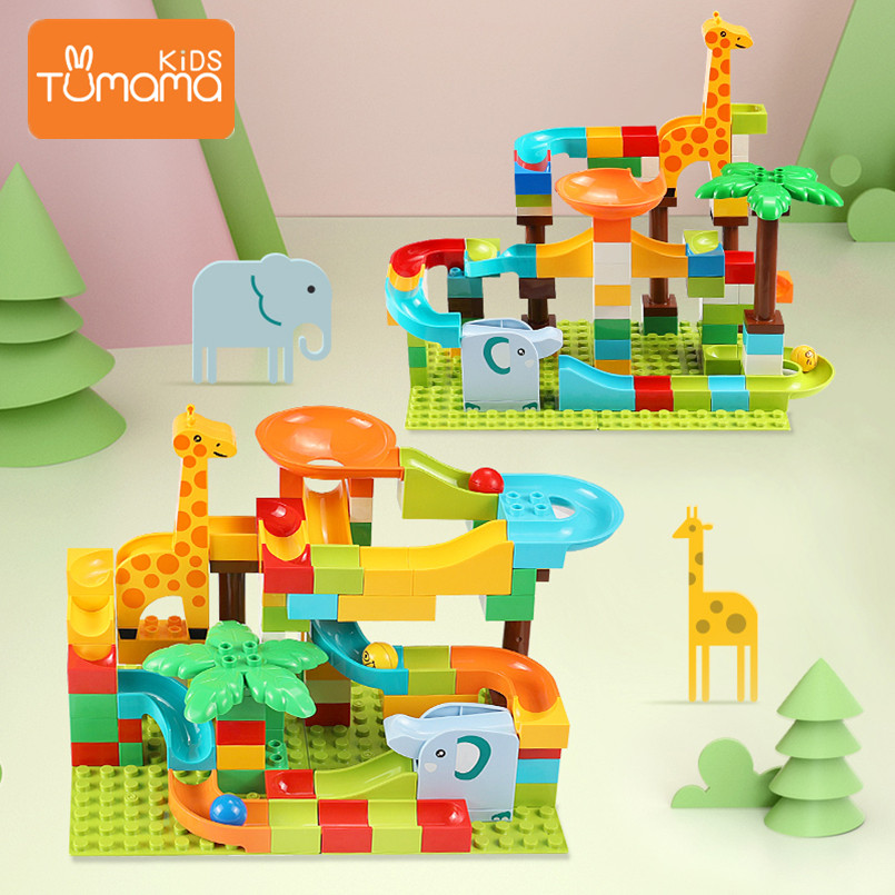 Model Building Amiable Tumama Blocks 91pcs 143pcs Diversified Tracks Abs Montessori Toys Big Size Jungle Series Track Run Building Blocks Toys For Kids Cool In Summer And Warm In Winter Toys & Hobbies