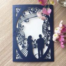 20Pcs Elegant Wedding Invitation Cards Best Selling Latest Unique Music Theme Party EventInvitation Greeting
