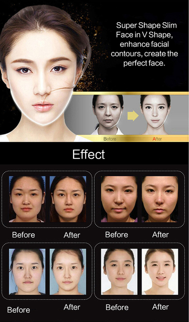 EFERO Miracle V Shape Lifting Face Mask Face Slim Chin Check Lift Peel-off Mask Facial Neck Masks  Face Slimming Skin Care TSLM1 3