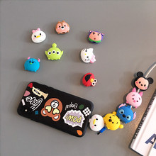 Wholesale Socket Car Phone Holder Cartoon Protector Cable Cord Saver Cover Coque For iPhone 8 Plus 5 5S SE 5C 6 6S 7 X Xs Max XR fffas cartoon usb cable protector phone line winder cover case wire organizer clip holder for iphone 4 5 5s 6 6s 7 7s 8 x plus