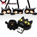 USB flash drive кошка модель pen drive прекрасный черный кот флэш-карты 4 ГБ 8 ГБ 16 ГБ 32 ГБ Pendrive USB stick полный емкость