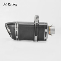 Motorcycle Carbon Fiber Exhaust Tail Pipe Inlet Inner 51mm