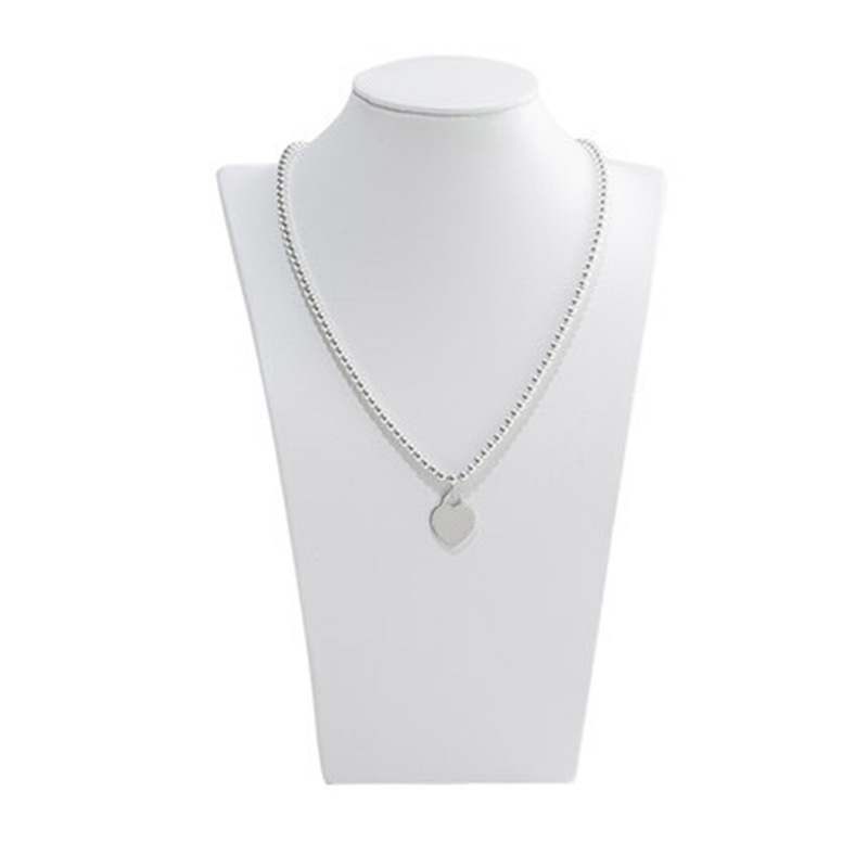 TIFF 925 sterling silver necklace bead chain love pendant new charm original 1 1 production female