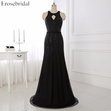 robe de soiree New Arrival Tulle Mermaid Evening Dress Scoop Neck Floor Length Pageant Backless Party Dress WYE109