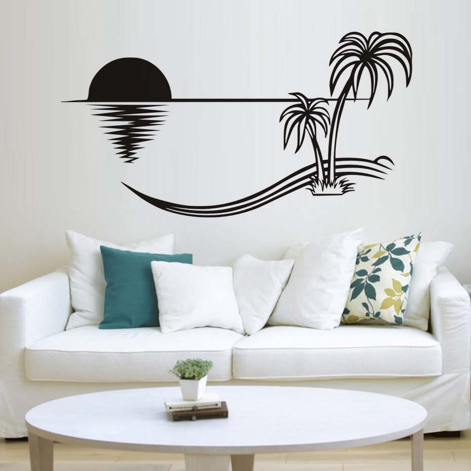 New Arrival Jungle Sunset Wall Sticker 3D Removable Decal Waterproof ...