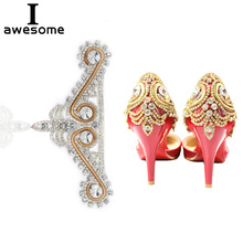 7be7d98a6e Shining Crystal Rhinestone Bridal Wedding Party Shoes Accessories ...