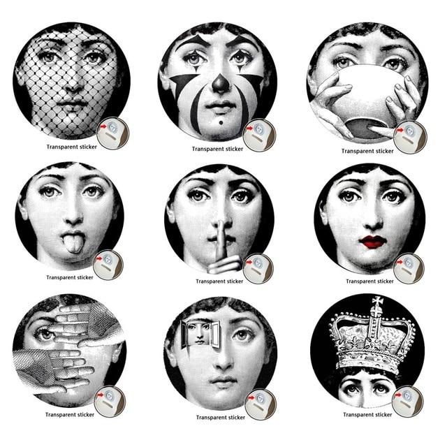 9 Pièces Milan Italie Designer Fornasetti Plaques Motif Papier