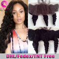 7A Brazilian Lace Frontal Loose Wave Virgin Human Hair Ear To Ear Lace Frontal Closure With Baby Hair 13X4 Free Middle 3 Part
