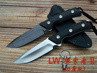 LW SEEKER 2 Hunting Knife Camping Survival Knives 61Hrc Satin / Stone wash , VG 10 Steel Carbon fiber Handle With K Sheath