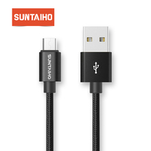 Suntaiho Micro USB Cable 3 PCS 1M/2M/3M Nylon Metal Fast Charger 5V/2.1A Mobile Phone Android USB Cable for Xiaomi HTC LG Samsu