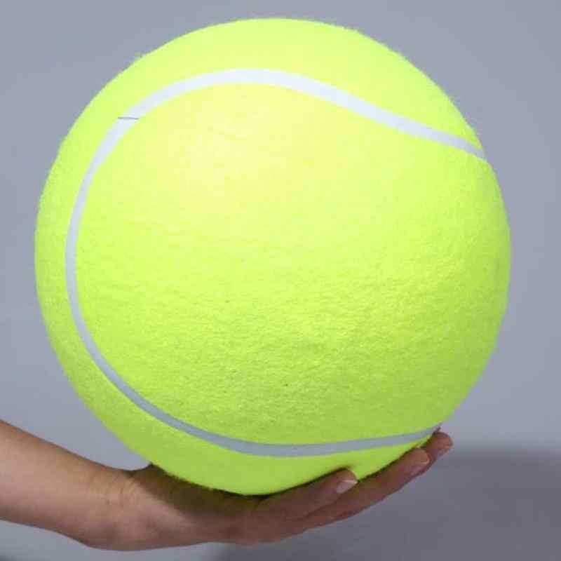 บอลเทนนิส 24CM ยักษ์สำหรับสุนัข Chew Toy บอลเทนนิสพองใหญ่สัตว์เลี้ยงสุนัขของเล่นแบบโต้ตอบสัตว์เลี้ยงกลางแจ้งคริกเก็ตของเล่นสุนัข
