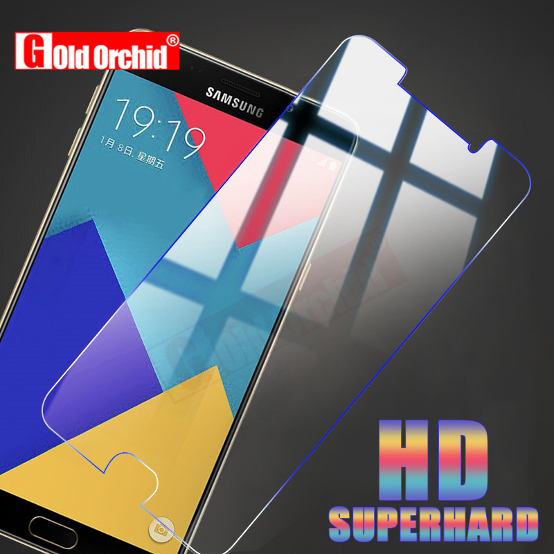 Gold Orchid 9H For <font><b>Samsung</b></font> Galaxy A3 A5 <font><b>A7</b></font> 2016 2017 Tempered Glass HD 2.5D For <font><b>Samsung</b></font> Galaxy A8 <font><b>2018</b></font> A9 <font><b>Screen</b></font> Protector image