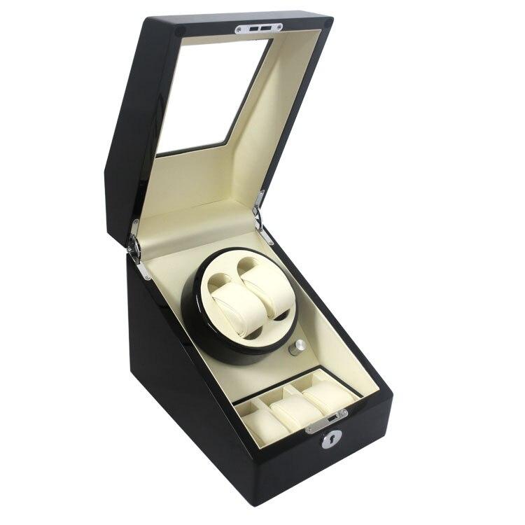 ФОТО Top Quality 2 Automatic Wood Watch Winder + 3 Box Case Locks
