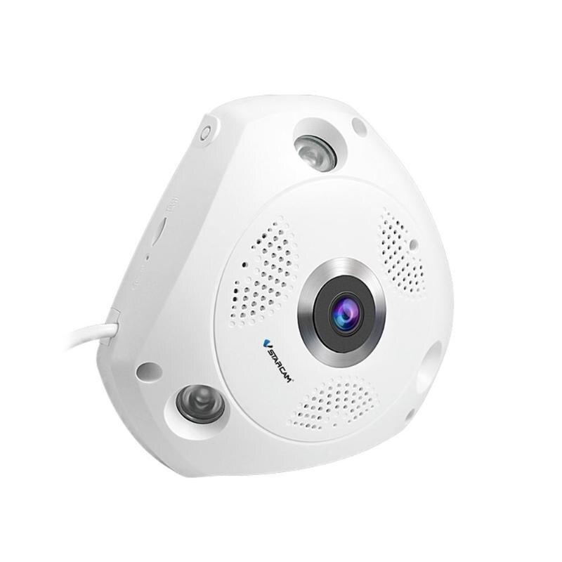 C61S 360 Degree Panoramic HD 1080P Wireless WiFi 3D VR Camera IP Camera Night Vision Household Monitor EU/US/UK/AU Plug