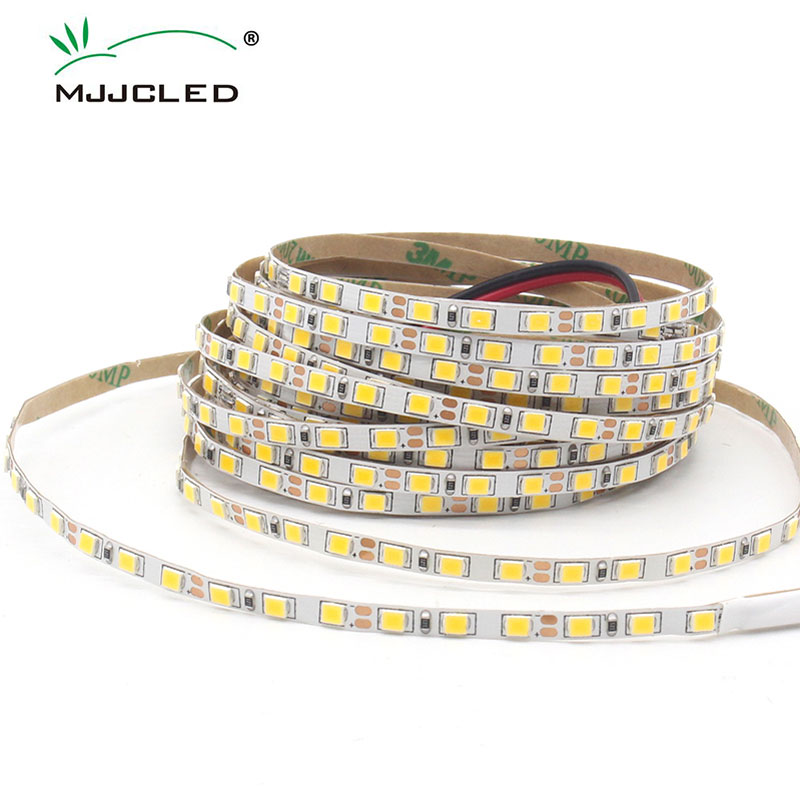 5M 2835 <font><b>SMD</b></font> <font><b>LED</b></font> Light Strip <font><b>4mm</b></font> 8mm Slim Strip IP20 Non-Waterproof Flexible 120LEDs/M <font><b>Led</b></font> Tape Warm White Home Lighting DC 12V image