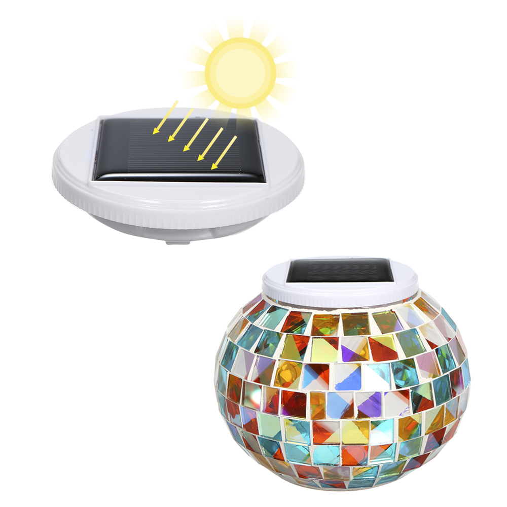 Image 2 - Color Changing Solar Powered Glass Ball Garden Light Outdoor Decorative Table Lights Camping Equipment Multi Tool Outdoor Tools-in Outdoor Tools from Sports & Entertainment