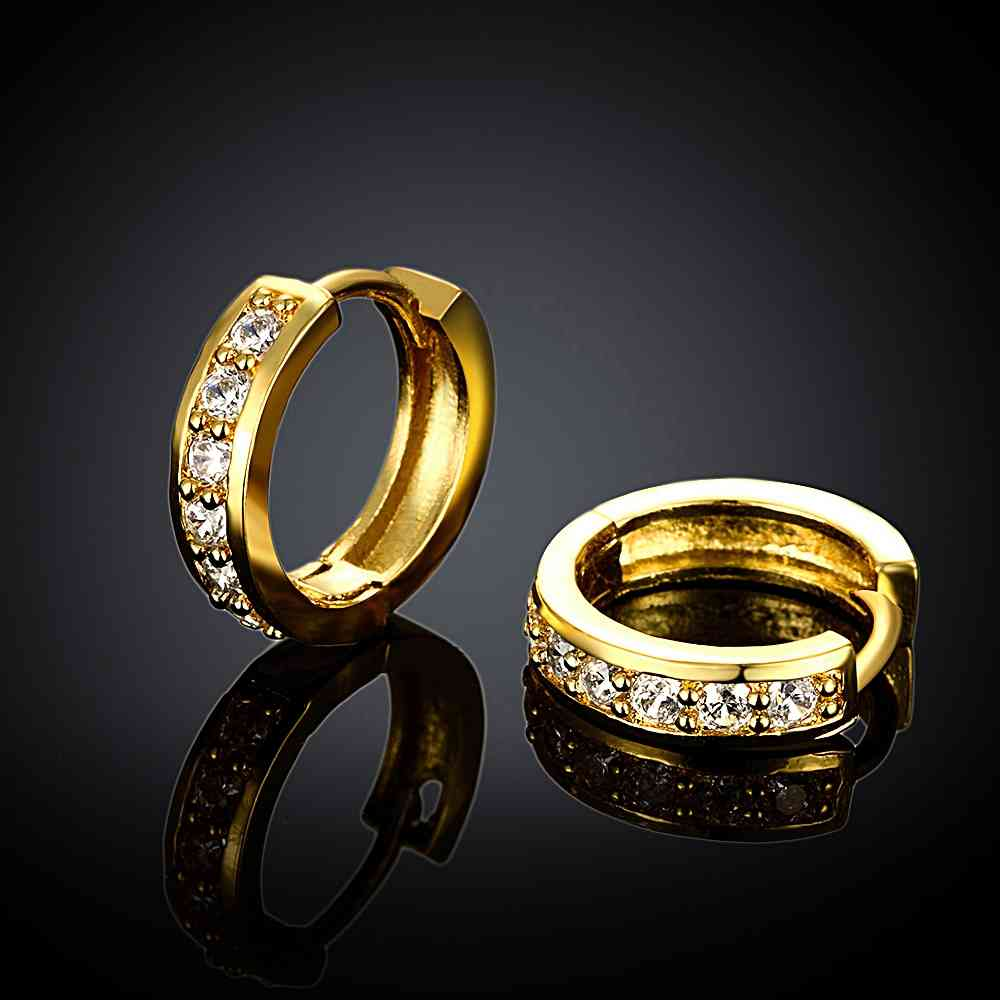 Free Shipping High Quality women jewelry gold color earings ...