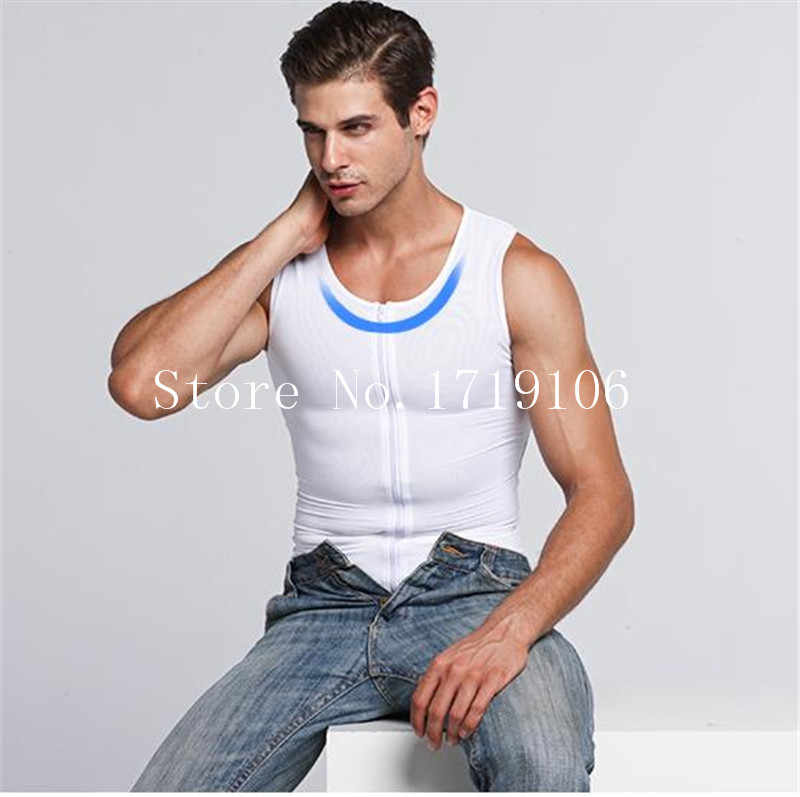 f1d2803011b64 ... Gynecomastia Chest Shaper For Man Boobs Flatten Zipper Corsets Beer Belly  Control Shapers Tops Waist Slimming ...